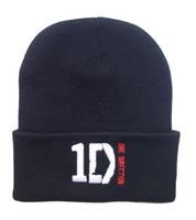 one direction hiphop CO Beanie Hats black winter knitted caps wholesale & dropshipping Fashion Caps cheap online Free shipping