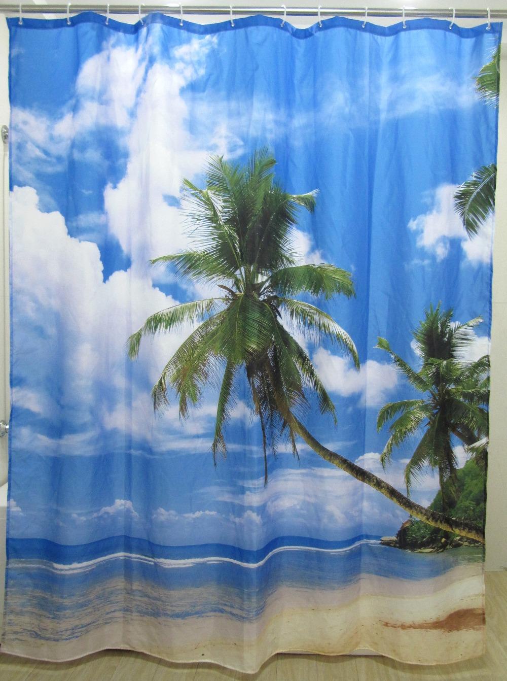 Cortinas De Baño En Once:del árbol de cuarto de baño impermeable de tela de la cortina de