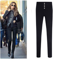 L0653, free shipping Korean women summer casual pants, big yards high waist trousers, plus size S-XXXXL pencil pants