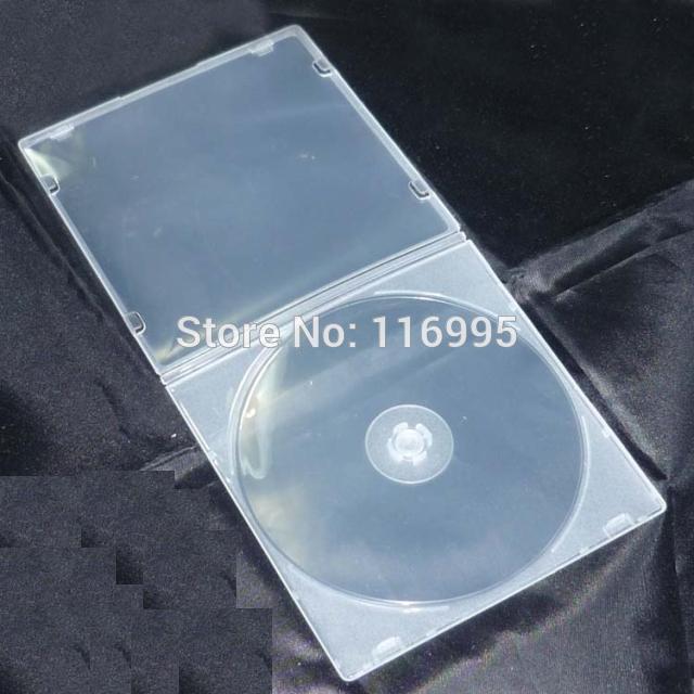 Free shipping 20pcs CD box / translucent single CD / VCD/DVD box / square / soft slim box / can insert(China (Mainland))