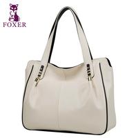 FOXER women handbag designers brand genuine leather  new 2014 fashion shoulder bags wristlets evening bag women messenger bags