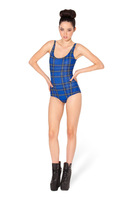 2014 New Sexy Dark Blue Plaid Women Swimwear Bandage Bikini Push Up Swimsuit Plus Size S M L YY026