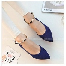 Free shipping 2014 spring and autumn shallow flat-bottomed shoes low-heeled shoes Women's shoes fashionable Flat Shoes 35-39(China (Mainland))