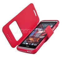 New High-class Window View Ultra Thin Leather Opening From Left To Right Case Stand Cover For HTC Desire 601 Zara