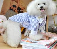High quanlity New Spring/Summer pet clothes Fashion debonaire clothing pet shirt  Striped shirt pet supplies