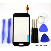10 pieces/lot Samsung Galaxy Ace 2 S7560 S Duos S7562 Touch Digitizer  Screen BLACK/white AAA test one by one with 1 sent tools