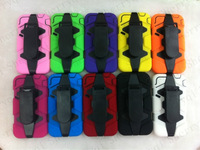 1PCS New!Generation II ShockProof DirtyProof Waterproof Silicone+PC 2 in1 Hybrid Case For Iphone4 4S with Belt Clip