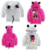 Retail Children's clothing wholesale fashion leisure boy girl modelling fleece children hoodie kids sweater free shipping