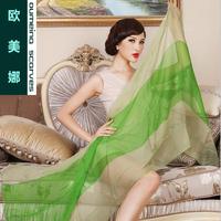 Oumeina Fashion and Muslim Women's  silk  long  scarf 100% silk chiffon tie dyed family color splice 195CM X 85CM  LJD-S060