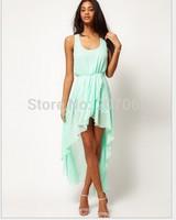New Chiffon Sexy Dress ,Maxi Mint Green Summer Dress Casual Brand Dresses
