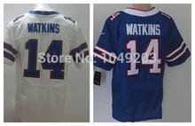 Sammy Watkins Jersey Elite White Blue Stitched 2014 Buffalo Football Rookie Jerseys(China (Mainland))