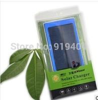 50pcs/lot 10000MAH Daul USB Portable Solar Charger for iPhone 5 5S iPad MP3 MP4 Samsung Mobile Phone Power Bank