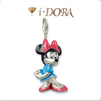 2014 Hot sell diy ts fashion charms bracelet alloys silver plated enamel jewelry pendant Minnie Mouse TS8134 colorful