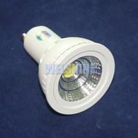 6X  High power dimmable 10W MR16 GU10 COB LED lamp light led Spotlight White/Warm white led lighting(4000K available))