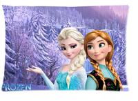 Personalized Unique Cartoon Frozen Standard Size 20x30 Cotton Pillow Case