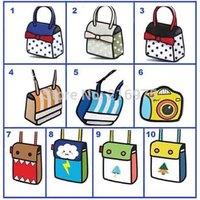 Free Shipping  coin purse 3d cartoon bag mini bowknot cartoon bag women gismo bag free shipping cell phone bag
