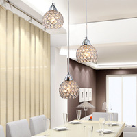 Modern Crystal Dining Room Pendant Lights 3 Pcs Crystal Cups Stair Pendant Lamp Bar Counter Haning suspension Lighting Fixtures