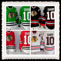 Free Shipping Wholesale #10 Patrick Sharp Jersey,Chicago Blackhawks Black/Red/Green/White Jerseys,Numbers And Name Are Sewn On