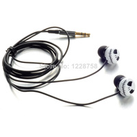 P Free shipping White Skull Earphone Headset Cable for MP3 MP4 Cellphone Laptop PC D1073