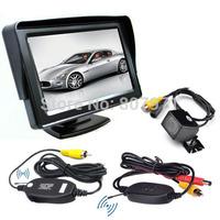 Car Rear View System Wireless IR Night Backup Camera+4.3 INCH TFT LCD Monitor