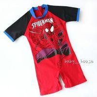 1 pcs baby Boys Swimwear kid boys swimsuit bathing suit cool spider SZ (2-8T)