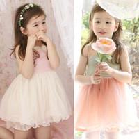 New 2014 Summer Girls Dresses Children Wear Korean Baby Vest Girl Lace Dress