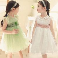 New Summer 2014 Children's Princess Dress Korean Explosion Latest  Lace Dresses