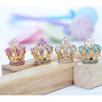 P Free shipping 2PCS Fashion 3.5mm Cross Crown Crystal Drill Anti Dust Earphone Jack Plug fOR iPhone D0657