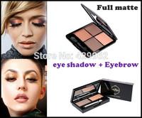 New 2014 fine waterproof full matte brand  Eyebrow powder  eye shadow combinations brand palette gift set
