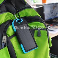 Dual USB Port Portable Backup External Battery Waterproof Solar Charger Mobile Power Bank 5000mAh