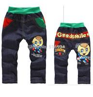2014 Children Kids Boys Full Length Pants Casual Style Kids Pants Trousers Imitation Jeans Cartoon Pants  Free Shipping