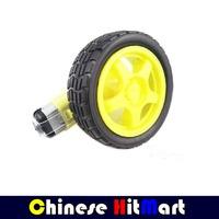 4set/lot Robot Smart Car TT Motor Micro Gear Motor Tracking Obstacle Avoidance Motor 1:48 DC 3V 6V 9V 12V + Wheel 68mm #RR04