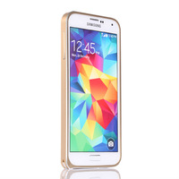 2014 New Luxury Double Color Aviation aluminum Bumper frame Case For Samsung Galaxy S5 I9600, No Screw