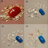 Nail 3D Metal Nail Art Decoration Fashion Design Gold Nail Decal Metal Tips 4000pcs/pack Free Shipping