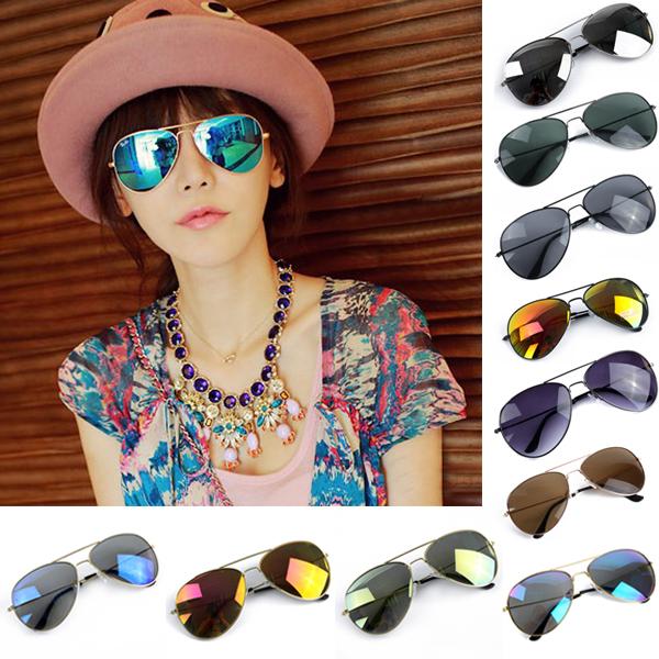 Sun Glasses for Women Men Unisex Reflective Eyeglasses Mercury Sunglasses UV400 Metal Frame Spectacles 11 Colors Freeshipping(China (Mainland))