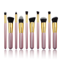 Free Shipping 2014 New Arrival Sixplus 10 Pcs Professional Makeup Brushes Set White Handle Cosmetic Beauty Kits Wholesale