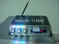 Black  HY502 Car Amplifier MP3 FM/USB Player  20W+20W Digital display power amplifier with Remote Control