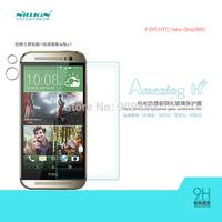 Original NILLKIN Glass Screen Protector For HTC M8/New One Amazing H+ Nanometer Anti-Explosion Tempered Glass Film,MOQ 1PCS