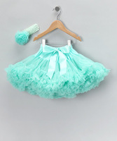 2014 New baby toddler kids girl Aqua blue chiffon fluffy pettiskirt tutu Princess skirt dance wear party skirt 2- 9 Ys