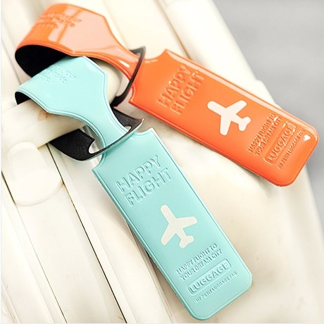 2014 hot sale Fashion luggage tag pvc travel baggage Identification card suitcase label free shipping(China (Mainland))