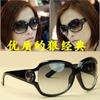 Mirror women's polarized sun glasses big box anti-uv sunglasses female myopia