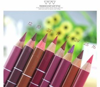 Professional 12 color Lipliner Waterproof Lip Liner Pencil lip line pen 15CM 1.9G Wholesale