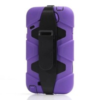 New ShockProof Waterproof Rugged Hybrid Case Heavy Duty Defender Cover W/ Belt Clip for Samsung Galaxy Note 2 Note2 N7100