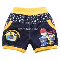 children clothing 2014 summer kids pants Cartoon casual pants clothing 3-7 age boy short trousers imitation jeans