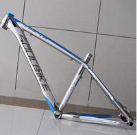 SOULBIKE SCT2.0 Lightweight aluminum mountain bike frame / polished brushed silver disc / Blue Label COLOR 16 inch MTB frame