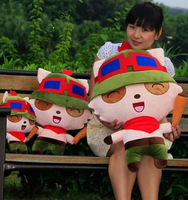 Free shipping Heroes Union, LOL Teemo large plush toy doll cartoon, birthday gifts, baby toys, Halloween gifts (30cm)
