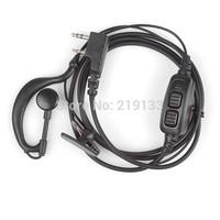 BAOFENG original  dual PTT earpiece with mic for UV-82 UV82L UV-89 2-way radio