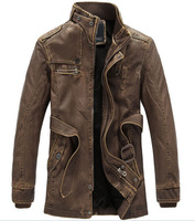 free shipping men's coat , new 2014 zipper casual leather jacket , cool winter dress 140