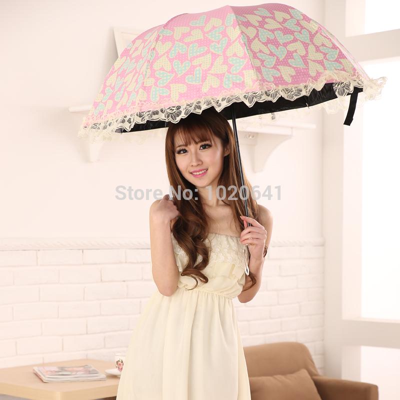 Sun umbrella lace sun protection umbrella anti-uv super sun princess umbrella cute folding umbrella(China (Mainland))