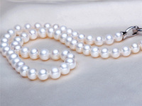 9.5-10 MM bread shaped AAA natural freshwater pearl necklace for her mother JD1-B-9AEN